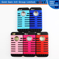 2014 New Arrival TPU+PC Microphone Design Hard Protective Case For iPhone 5G 5S