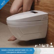 Alta calidad blanca cierre suave automática inteligente inodoro tanque de agua