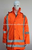 Hi vis ANSI Class 3 Safety Heavyweight 100% polyester windproof newest winter reflective jacket
