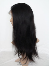 Aliexpress Indian Hair Yaki Straight Hair Glueless Full Lace Wig / Lace Front Wig Italian Yaki Full Lace Human Hair Wig