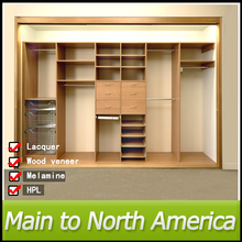 Project laminate solid wood wardrobe
