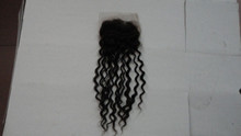 2014 hot selling 4*4 best quality 8-24 inch human body wave brazilian hair lace closure