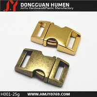 H001 cheap metal locking buckle,high quality metal buckle closure for dog collar