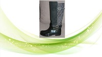 High Quality Welly In Rain Gear Winter Fashion Rain Boots Galosh Pu upper Plastic Boots For Lady