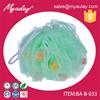 2015 china wholesale Green colourful Sponge particles lather bath net sponge BA-B-033