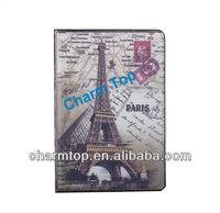 Retro Eiffel Tower Magnetic Hard Leather Smart cover For iPad Mini