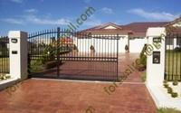 Elegant outdoor wrought iron sliding gates for villa