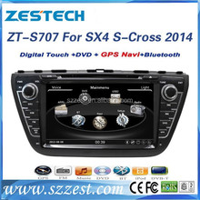 "ZESTECH 7"" car dvd gps navigation for Suzuki SX4 2014 car dvd gps navigation system tv dc with dvd mp5 player"