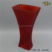 wholesale unique shape red glass vases for wedding