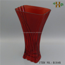 wholesale unique shape red glass vases for wedding