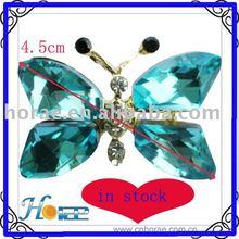 rhinestone butterfly shape shoe buckle