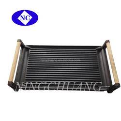 Non-stick Square Grill Pan wooden handle