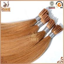 I tip/pre-bonded human hair 100% unprocessed 5a grade european hair