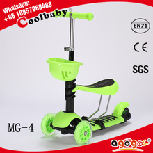 HOT new 2015 new design folding hands free scooter for kids