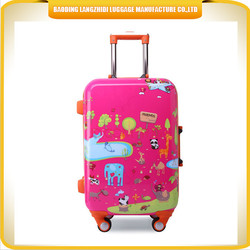 high quality kids luggage personalized with beautiful printing trolley luggage