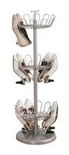 Yulong Home 3-Tier Revolving Metal Tree Shoe Rack, Chromeplate