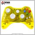 Control para Xbox 360 Totalmente Iluminado con Destellos Rojos cubiera transparent