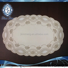 Superior Oval PVC Embossed Lace Placemat