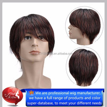 New hair styling quality synthetic men wigs dropship, wholesale new hair style boys