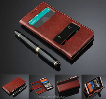 HQ!!! Soft Genuine Leather Wallet Bank Card Slots Bumper Flip Standing Mobile Phone Case 5.5 Inch For HTC Desire 820