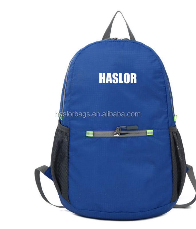 2015 coloré pliage léger sac à dos avec matériau imperméable