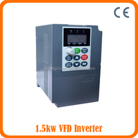 Single Phase 220V Input and 3 Phase 220V Output Variable frequency inverter 1.5KW 50/60HZ/VSD/AC drive /Frequency Converter