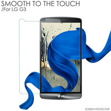 HUYSHE 2.5D arc edge smart glass film glass tempered screen protector for LG G3