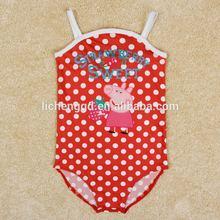 ( r4968) sw 3-8y nova chidren ropa de natación peppa pig ropa de playa de impresión de bebé niña de una sola pieza traje de baño