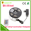 hot selling factory price 12V 5A power supply 5050 rgb waterproof led strip kit with remote control