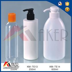 Empty plastic bottles with foamer sprayer for shampoo