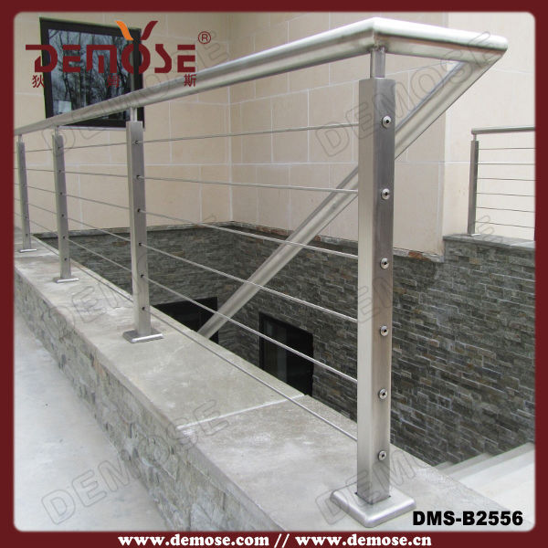 outdoor stair railing kit stainless steel cable railing