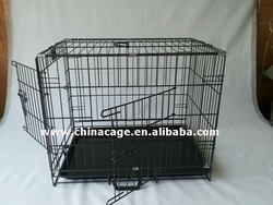 good quality foldable wire mesh dog cage