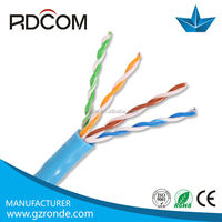 Fluke passed cable network cat5e cable For 1000ft 4 pair solid utp cat5e cable , ISO CE FCC RoHS compliant