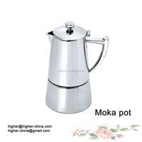 Guangzhou Stainless steel moka coffee pot/Large stainless steel pots/Moka pot in Coffee makers