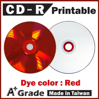 Taiwan A + Red Printable CD, white inkjet printable cd, blank printable wholesale cds