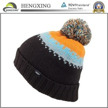 Wholesale 30% wool 70% acrylic layered beanie winter hat