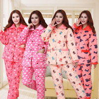 Professional Good quality Cheap breathable flannel pajamas for women