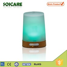 Wood+Glass aroma diffuser, 100ml electric aroma diffuser lamp, wholesale shanghai electric oil diffuser aroma diffuser lamp