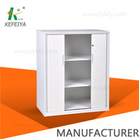 Metal cabinet tambour door cabinet with planter box