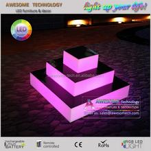 led light up acrylic perspex wedding centerpiece