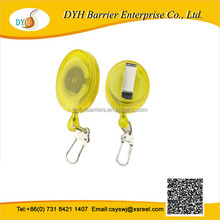 Best sell Custom transparent plastic badge reel with vinyl textil strap