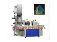 Automatic counting feeding and packaging machine for straight straw