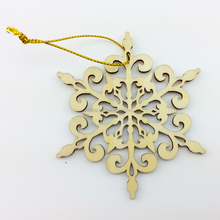 The most popular hot sale laser engraving new promotional handmade cheap wooden snowflake craft