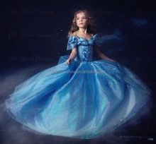 Best quality girl princess cinderella cosplay party cosplay costume helloween day blue dress anime cosplay