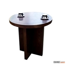 Round Wooden Dining Table Design Solid Wood