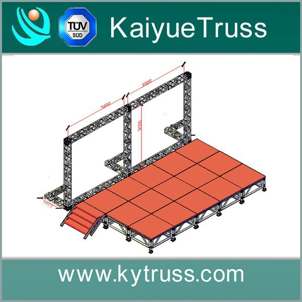 Stage truss system concert stage flooring portable indoor for Cheap truss systems