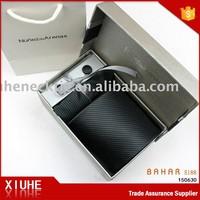 Hot Dark Grey new custom design cufflink tie clip boxes for gifts