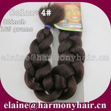STOCK Brown 4# 82inch 165grams Synthetic xpression jumbo braid hair / Afro super ultra braiding hair