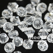 Factory Colorful 4mm Cristal Beads Loose Glass Beads With Hole For Decorative Jewlery DIY