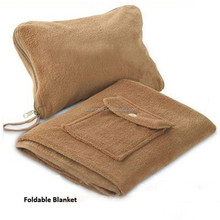 Premier Class Travel rest 4-in-1 fleece blanket poncho, cashmere shoulder cover for travel.
